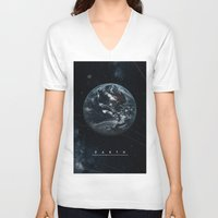 earth V-neck T-shirts featuring EARTH  by Alexander Pohl