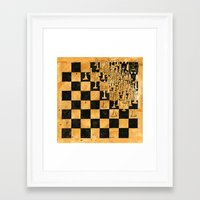 chess Framed Art Prints featuring Chess by Tim Reed