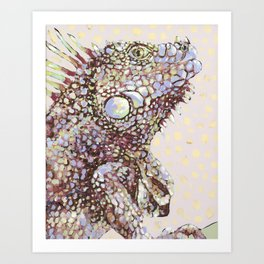 Iguana Side Eye Art Print