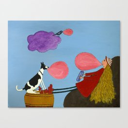 Super Bubblegum Canvas Print