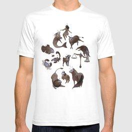 Skeleton zodiac T-shirt