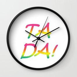 Ta Da! Wall Clock