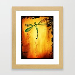 Dragon fly fire  Framed Art Print