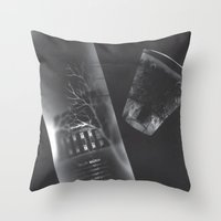 vodka Throw Pillows featuring Vodka Visions by Andrea Jean Clausen - andreajeanco