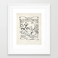 scripture Framed Art Prints featuring Love Extravagantly scripture print by Kristen Ramsey