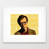 annie hall Framed Art Prints featuring Woody Allen - Annie Hall I by FCRUZ