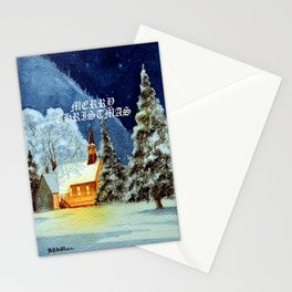 Merry Christmas Greeting Card Stationery Cards