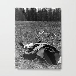 Cowboy Shut-eye Metal Print