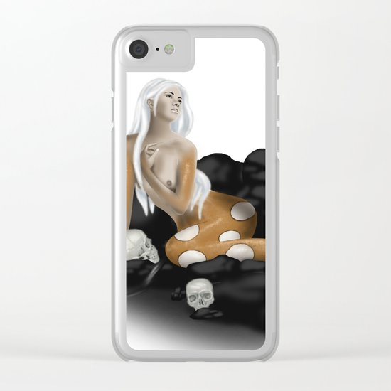 Dangerous Mermaid Clear iPhone Case