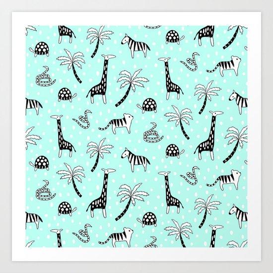 Safari Mint Art Print