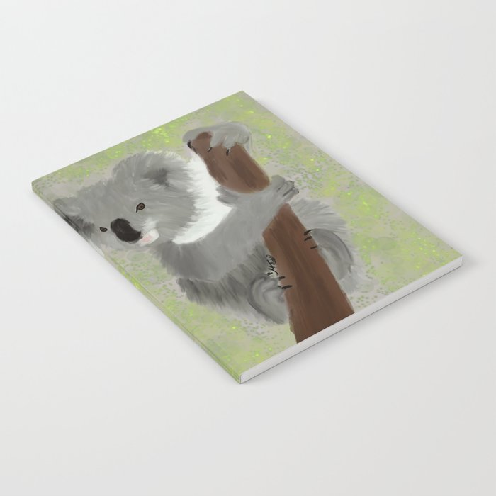 Koala Bear Hanging In There Notebook