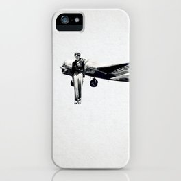 Amelia Earhart with her Airplane iPhone Case