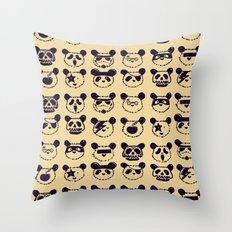 Pop Panda Tee Throw Pillow