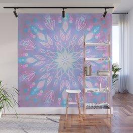 Purple, Teal, White Aura Mandala Wall Mural