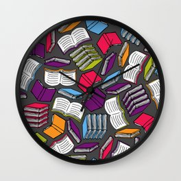 So Many Colorful Books... Wall Clock