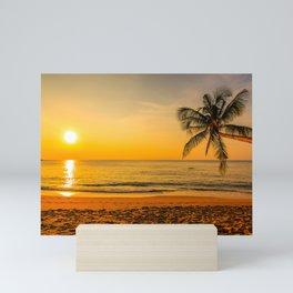 Beautiful Sunset over the Beach Mini Art Print
