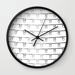 """Christmas Collection"" - Minimal Christmas Lights Pattern Print Wall Clock"