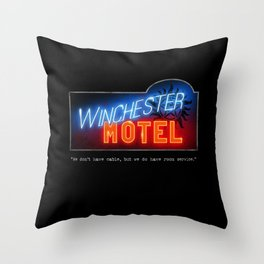 Winchester Hotel Throw Pillow