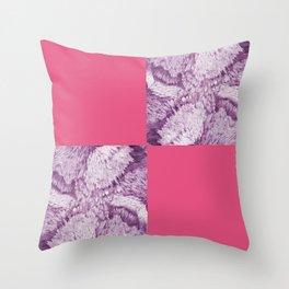 Season of the Square - Cerise check Throw Pillow