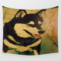 best friend Wall Tapestries featuring Best friend by Truly Juel