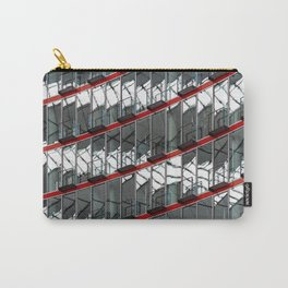 Abstract Red Geometry in Berlin Carry-All Pouch