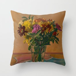 Small Bouquet Throw Pillow