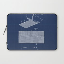 Surgical Bandage Vintage Patent Hand Drawing Laptop Sleeve
