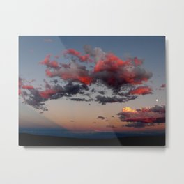 Cotton Candy Sunset Full View Metal Print