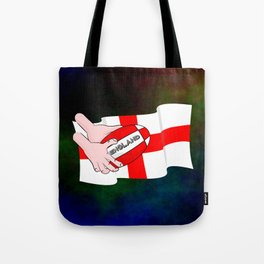 England Rugby Flag Tote Bag