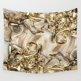 GOLD SWIRLS Wall Tapestry