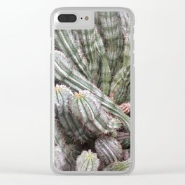 Pickle cacti Clear iPhone Case