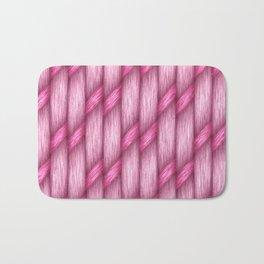 Crossed Weave, pink Bath Mat