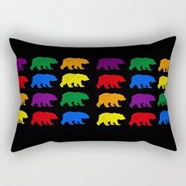 Rainbow Bears gay bears osos lgbt pride bear week Rectangular Pillow