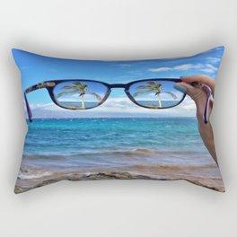 Hawaii Sunglasses Palmtrees Rectangular Pillow