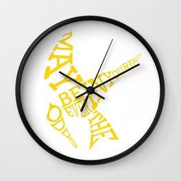 Mockingjay w/ quote Wall Clock