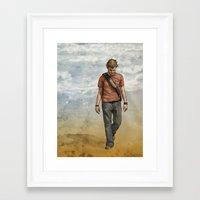 charlie Framed Art Prints featuring Charlie by Jackie Sullivan