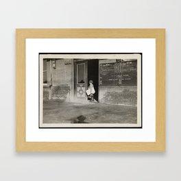 Vincent Serio - Newspaper Boy Framed Art Print