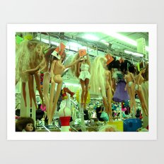 Where Barbies go to die. Art Print