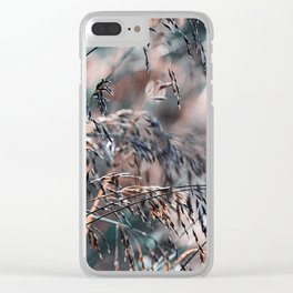 Silver Grass After Rain  Clear iPhone Case