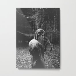 It´s dark, always. Metal Print