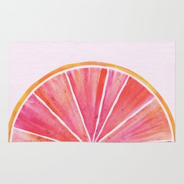 Sunny Grapefruit Watercolor Rug