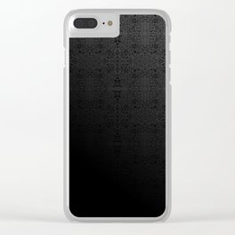 Rising - mirrored pattern - dark gray tones - Clear iPhone Case