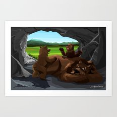 Grizzies Art Print