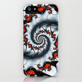 Fractal Art - Fire and Ice iPhone Case