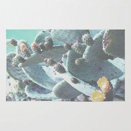 Green Flowering Cacti Rug