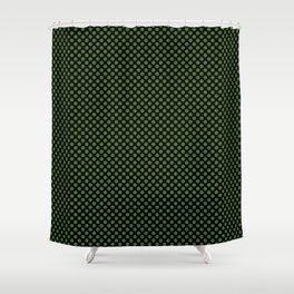 Black and Treetop Polka Dots Shower Curtain