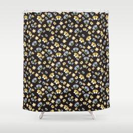 Crisscross Butterflies V.02 - Dark Charcoal Color Shower Curtain