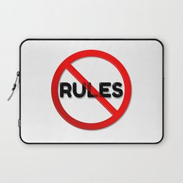 No Rules Laptop Sleeve