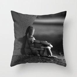 the kidnapped manikin Throw Pillow