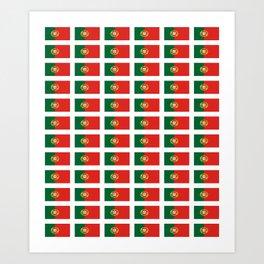 flag of portugal 2 -Portuguese,mirandese,Portugués,lisbon,porto. Art Print